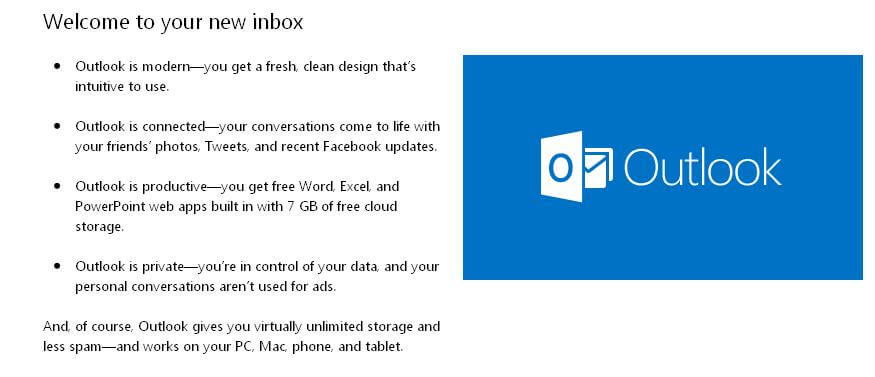 Microsoft Outlook's new look