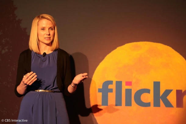 Marissa Mayer at the press event in New York
