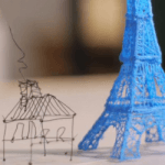 3D Printed Model of Eiffel Tower